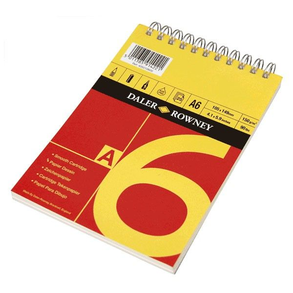 Daler Rowney Red Amp Yellow Spiral Drawing Paper Pad